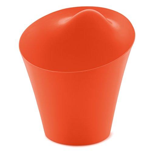 koziol corbeille à papiers Ba Ba Bin, thermoplastique, rouge orange, 36,1 x 36,4 x 39,2 cm