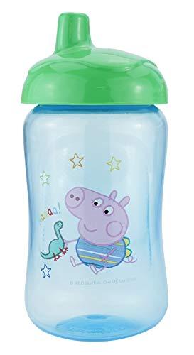 HOVUK Peppa Pig - Vaso de vaso para niños (plástico, sin BPA, con estampado de Peppa Pig George), color azul