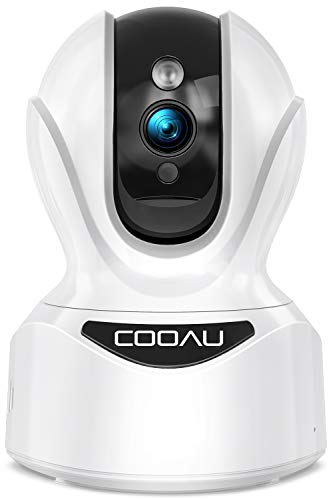 Wireless Security Camera, COOAU 1080P Indoor IP Home WiFi Cameras for Pets/Dogs/Nanny/Baby, PTZ, Sound Detection, Motion Tracking and Alert, 2-Way Audio, Works with Alexa, Cloud/SD Storage