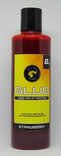Wicked Carp Company 8 fl oz Strawberry Glug   Carp & Catfish Bait Enhancement   PVA Friendly Liquid Dip Bait & Attractant