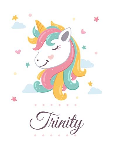 Trinity: Personalized Unicorn Composition Notebook For Girls & Women With...
