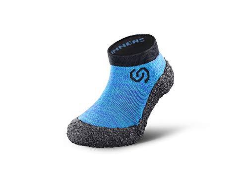 Skinners Calcetines Minimalistas Andar Descalzo para para niños | Calzado Ultra portátil Ligero y Transpirable | Ocean Blue, 33-35 EU