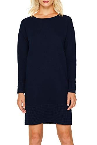 edc by ESPRIT Damen 089Cc1E028 Kleid, Blau (Navy 2 401), Small (Herstellergröße: S)