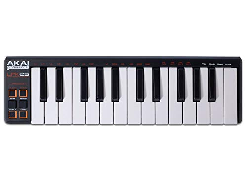 Akai Professional LPK25 | 25-Key Portable USB MIDI Keyboard Controller for Laptops (Mac & PC)