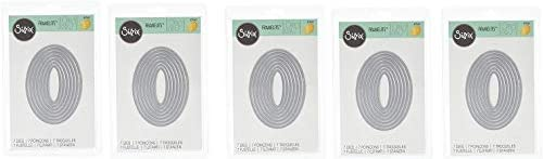 Sizzix Framelits Die Set 7 Ovals store 5- PK - Pack Sales of SALE items from new works