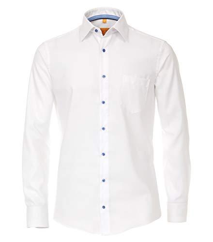Redmond Herren Struktur Hemd uninah Modern Fit 100% Baumwolle