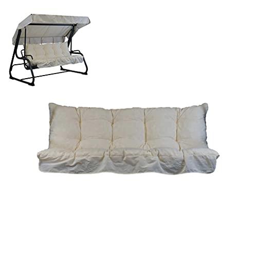 TECNOWEB Cuscini per Dondolo 4 posti (170x52x12cm) - Incluso Anche Il tettuccio Coordinato - 100% Made in Italy - Ideale per Esterni (Giardini e Cortili) - Telaio Non Incluso