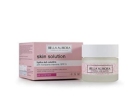 Bella Aurora Crema Facial de Día Hidratante Anti-Edad Piel Normal o Seca 30+ Años SPF 15, 50 ml | Prevención Manchas | Hydra Rich Solution | Skin Solution