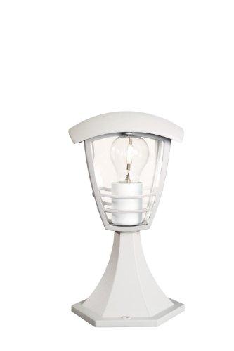 Massieve 153823110 buitenverlichting, voor buitenwand/voet, wit, E27, buitenverlichting (overwerp-/vloerlamp voor buiten, wit, aluminium, kunststof, IP44, tuin, binnenplaats, I)