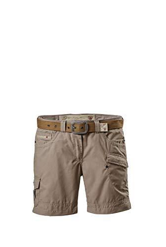 G.I.G.A. DX Damen Shorts Hira, Bermuda mit Gürtel, kurze Hose für Frauen mit praktischen Taschen, champagner, 42