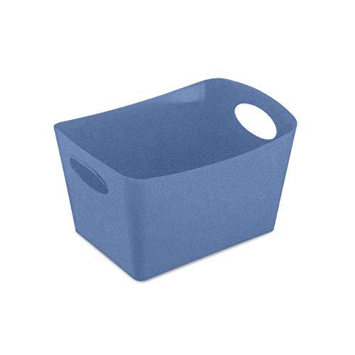Koziol Aufbewahrungsbox Boxxx S, Box, Kiste, Korb, Aufbewahrung, Thermoplastischer Kunststoff, Organic Blue, 1 L, 5745671