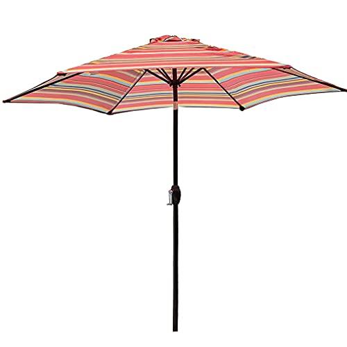 MXBC Paraguas y sombra para patio al aire libre, sombrilla de jardín inclinable de 38 mm de aluminio con barra inclinable para exteriores, sombrilla con botón adicional de inclinación y manivela