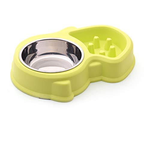 CQ hond kom langzaam voedsel dubbele kom roestvrij staal kat kom hond bekken huisdier voedsel kom om te helpen verteren hond voeden schattig
