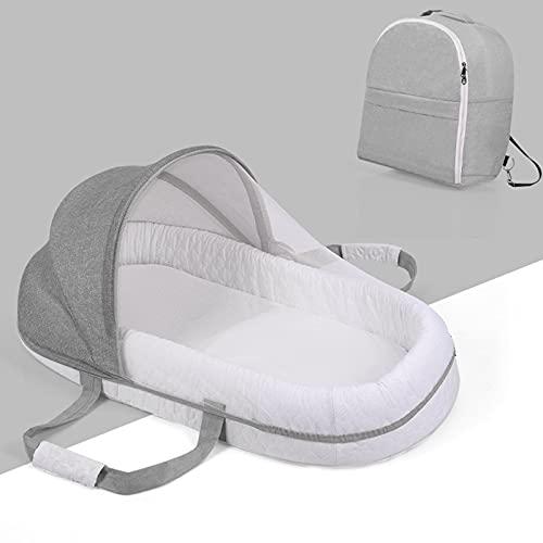 TXTC Cuna Bebe para Cosleeping, Cuna Colecho Portátil Y Lavable con Algodón Suave, Liderazgo para Bebé Cuna Portátil Regalo De La Ducha Recién Nacido para 0-15 Meses (Color : Grey)