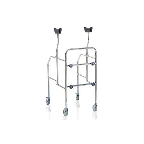 MOPEDIA - Deambulatore ascellare 4 ruote smontabile
