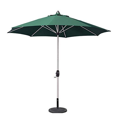 YXB Outdoor Protect Parasols 9' Portable Patio Garden Table Umbrella With 8 Sturdy Ribs, Perfect For Outdoor Beach, Commercial Event Market, Camping, Pool Side (Color : Red, Size : 9 Ft/270cm)