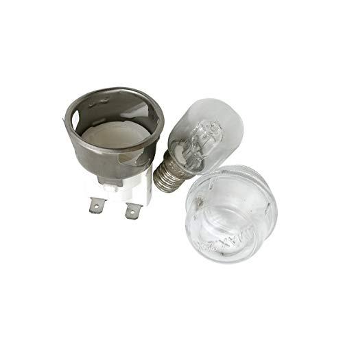 Meter Star CE-Zertifizierung E14 Hochtemperaturbeständigkeit 500 ° C 250V 25W Ofenlampe, Rundkopfglasabdeckung widerstandsfähig bis Hochtemperatur, Ofenlampe, Oven-Leuchten-Keramik-Lampenkopf 2501 Kit