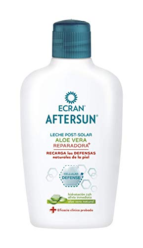 Ecran Aftersun, Leche Post-Solar Hidratante y Reparadora con Aloe Vera Natural - 200 ml