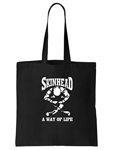clothinx Skinhead - A Way of Life Stoff-Tasche Schwarz