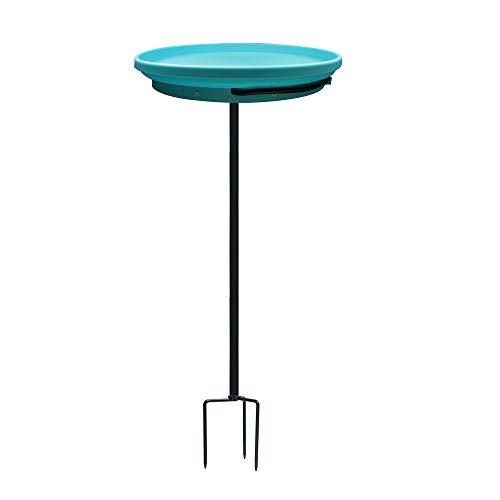 GESAIL Heated Bird Bath Bowl,75W Birdbath Heater with Metal Stake for Outdoor Garden Decoration,Deck Bird Bath Heater with Themostat for All Season(Blue)