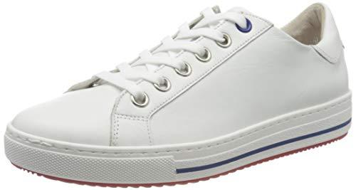 Gabor Shoes Damen Comfort Basic Sneaker, Weiß (Weiss(S.W/Rot/Bla) 52), 41 EU