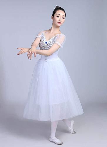 ACEACE Neue professionelle Ballett Schwanensee Tutu Schleier Kostüm Erwachsenen Ballett-Rock-Hauch Weiß klassischen Ballett-Rock-Kleid-Ballett-Kostüm (Color : White, Size : M)