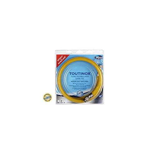 Wpro TNE150 Flexible de Gaz Illimité Toutinox Gaz Naturel Gaine Opaque - 1.5 m