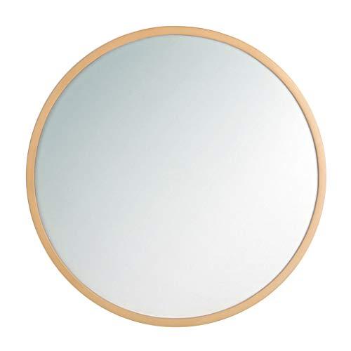 Cuarto de baño Redondo Espejo de Pared Círculo Marco de Madera Maquillaje Gran vanidad Afeitado Hogar Sala de Estar Conciso Dormitorio Contemporáneo (30 cm - 80 cm)