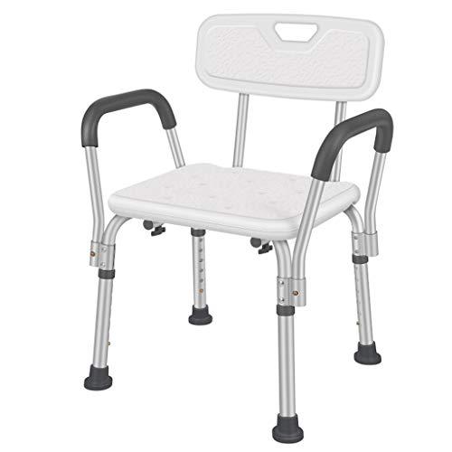 SHIJIANX Silla O Taburete De Baño, De Ducha, Ayuda para Baño para Ancianos Y Discapacitados, Antideslizante, Altura Regulable, Respaldo, Ergonómica