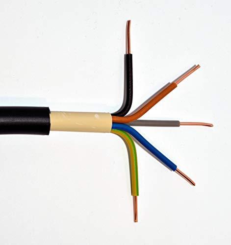 Erdkabel NYY-J 5x10 mm² RE schwarz 100m 5x10qmm für den Innen- und Außenbereich