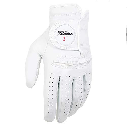 Titleist Perma-Soft - Guantes de Golf para Hombre - 6597E-101-L, Perla, Large,...