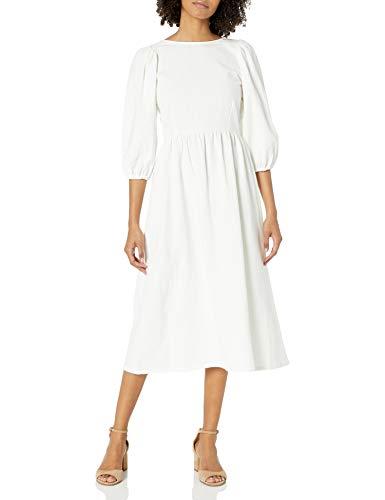 Rachel Pally Damen Linen Canvas Roma Dress Freizeitkleidung, Salz, X-Klein