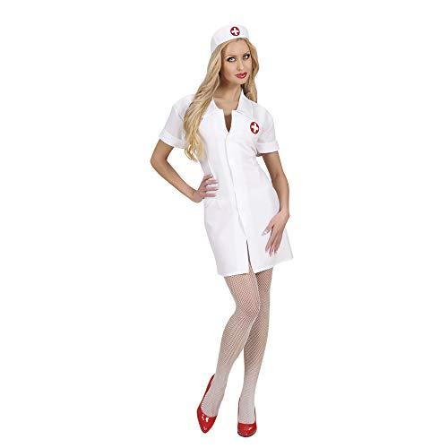 Widmann 72023 - Kostüm Krankenschwester, Kleid und Haube, Größe L