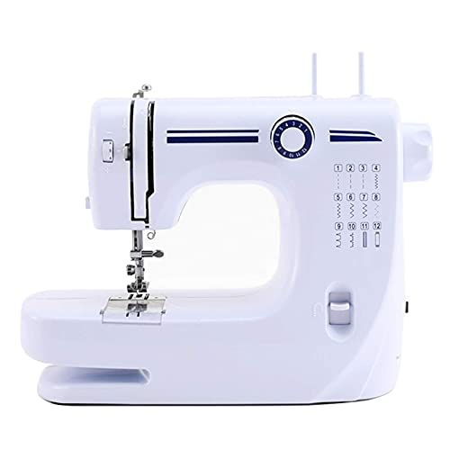 Dkdnjsk Máquina de Coser electrónica, máquina de Escritorio portátiles de Escritorio LED doméstico Overlock Grueso, máquina de Coser electrónica, de Escritorio LED para Principiantes de Doble Hilo de