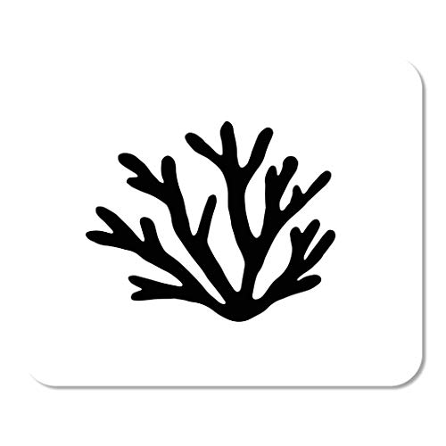 Mousepad Computer Notepad Büro Alge Sea Coral Silhouette Schwarzalgen Aquarium Zeichnung Leben Home School Game Player Computer Worker Inch