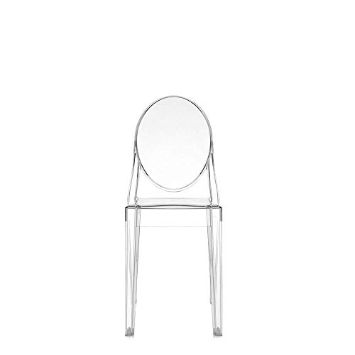 Kartell Set 2 Victoria Ghost Transparent Crystal Chair