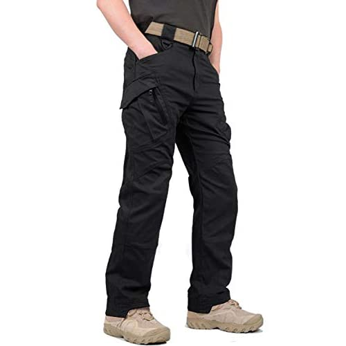 KEFITEVD Men's Combat Tactical Trousers Outdoor Military Cargo Trouser Multi Pockets Safari Work Pants