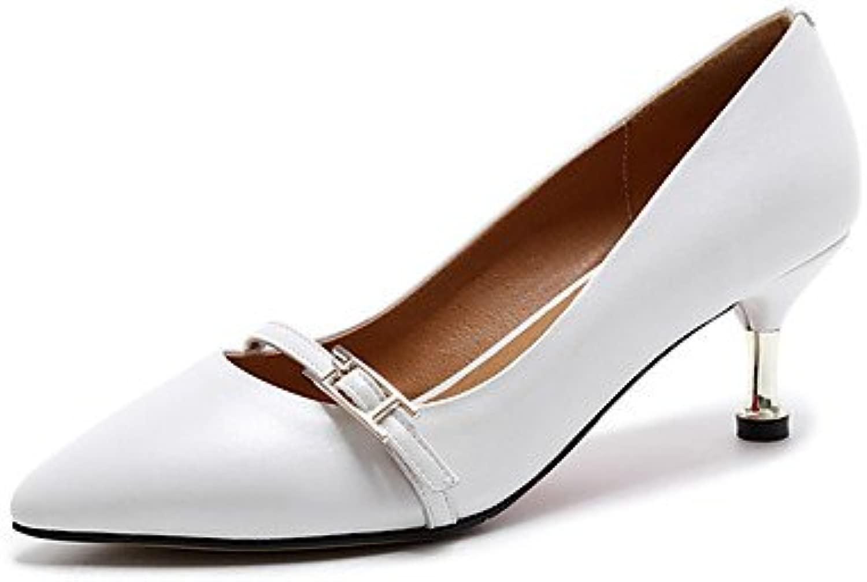 LvYuan-ggx Da donna Tac  Suole leggere Pelle Estate Casual Footing Suole leggere A stiletto Bianco Nero 5-7 cm, nero, us7.5   eu38   uk5.5   cn38