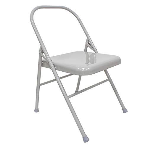 Sport-Thieme Yoga Stuhl Classic   Rückenschonendes Yoga-Equipment   Iyengar Yoga   Klappbar   Hochwertiges Metall mit Gummikappen   Markenqualität
