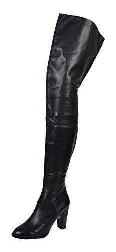 Lange Leder Crotch Overknee Stiefel Victoria (37)
