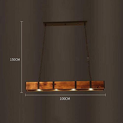 LED-koplampen kroonluchter eenvoudige retro houten kroonluchter schaduw retro industrie kroonluchter 4 vlam 5 W wit spotlight restaurant café decoratie kroonluchter verwarmen