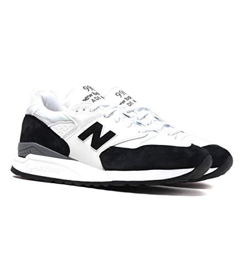 New Balance Made in USA 998 Turnschuhe aus weißem und schwarzem Wildleder