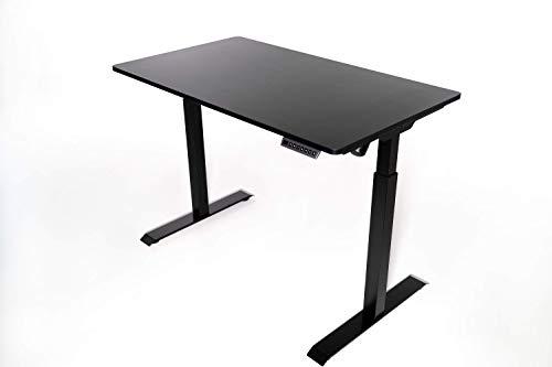 Kulik System - E-Table Escritorio Ajustable en Altura - Soporte para Portátil o PC, Gran Capacidad de Carga, Mesa Automática Eléctrica, Almacena 5 Posiciones, Para Trabajar Parado, 70x120 cm, Negro