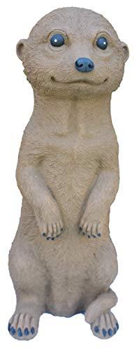 Steinfigur Erdmännchen, 162/2 Gartenfigur Steinguss Tierfigur Braun Patina