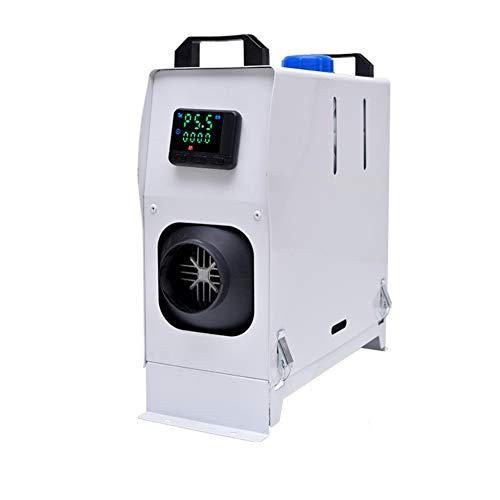 Z&LEI Calentador de estacionamiento de Aire Diesel de 12 / 24V 8KW, Pantalla LCD para Camiones/Motocicletas domésticas/Marine/Camper Van Winter Warm,Blanco