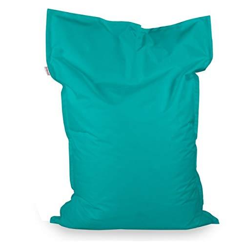 Italpouf Sitzsack Sitzkissen Riesensitsack XL Türkis 98 x 138cm 250l Füllung Outdoor Indoor Bean Bag
