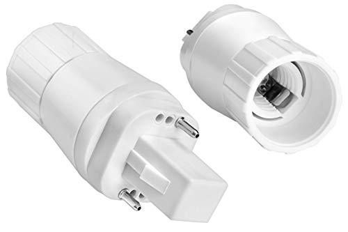 G24-D G24D 2-Pin Adapter auf E14 Schraubgewinde für LED Leuchtmittel Converter