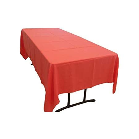 58 x 108 NEW 58 x 108 Polyester Poplin Rectangular Tablecloth Red decorations decor outdoor party birthday tablecloths