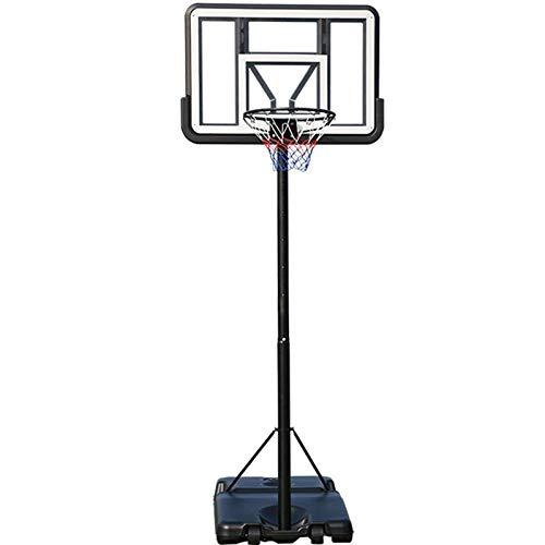 LOVEHOUGE Canasta de baloncesto portátil, sistema de soporte con tabla y ruedas, altura regulable de 4 a 10 pies, ideal para niños, jóvenes y adultos