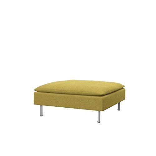 Soferia Funda de Repuesto para IKEA SÖDERHAMN reposapiés, Tela Classic Dark Yellow, Amarillo